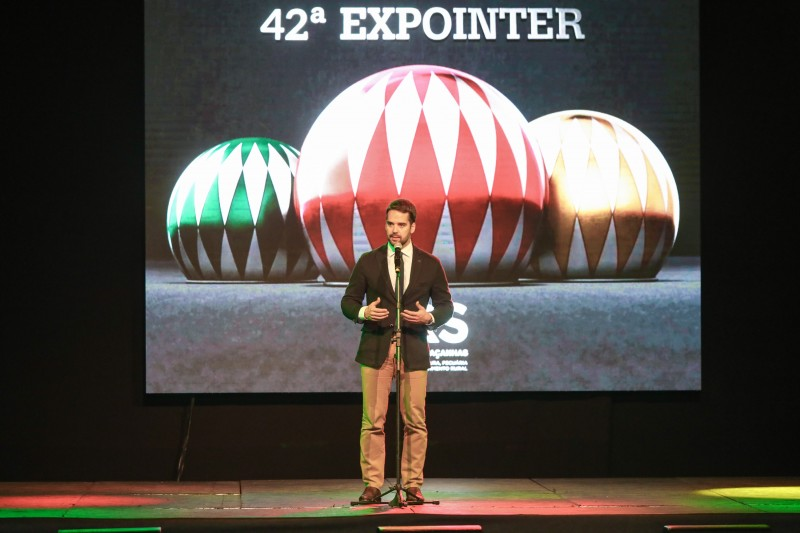 A Expointer evoca, para Leite, a força e o vigor da nossa economia e o talento e a capacidade do nosso povo